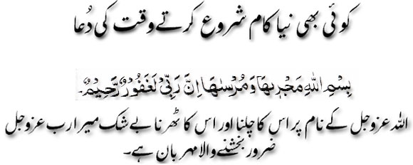 Koi Bhi Niya Kaam Shoro Kartay Waqt Ki Dua | Dua To Read When Starting a New Work