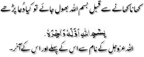 Khana Khate Waqt Agar Shuru Me Bismillah Kahna Bhul Jaye