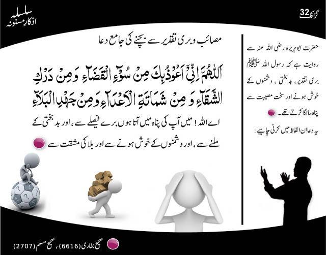 dua for bad destiny in Urdu English Hindi