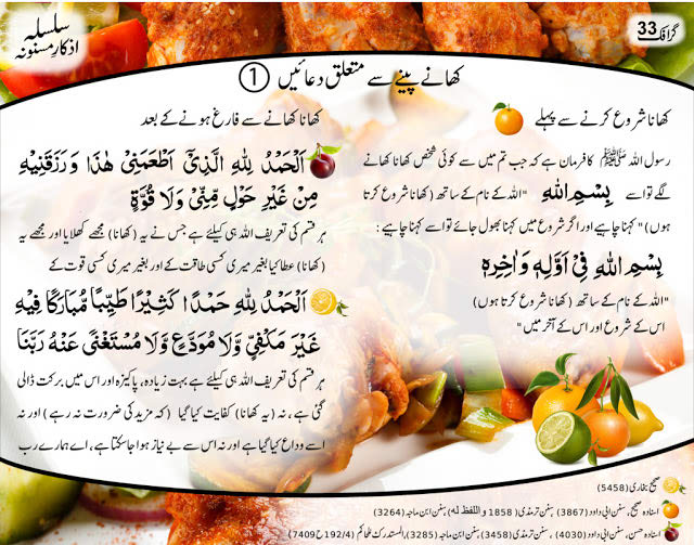 dua for eating drinking in Islam