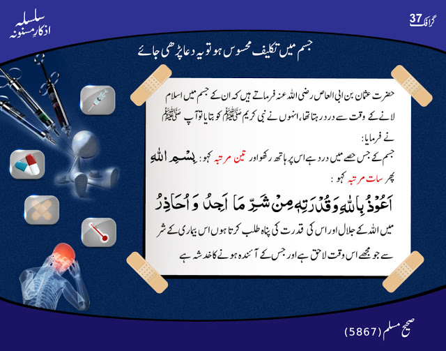 dua for pain relief body in Islam