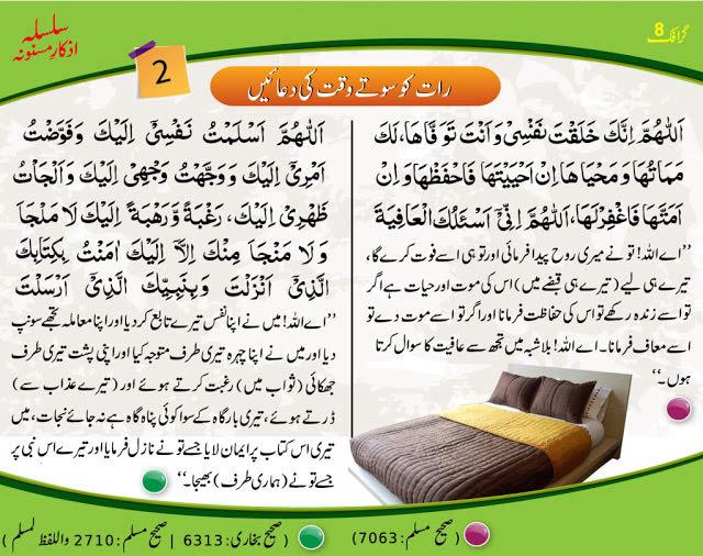 Arabic dua for sleeping at night