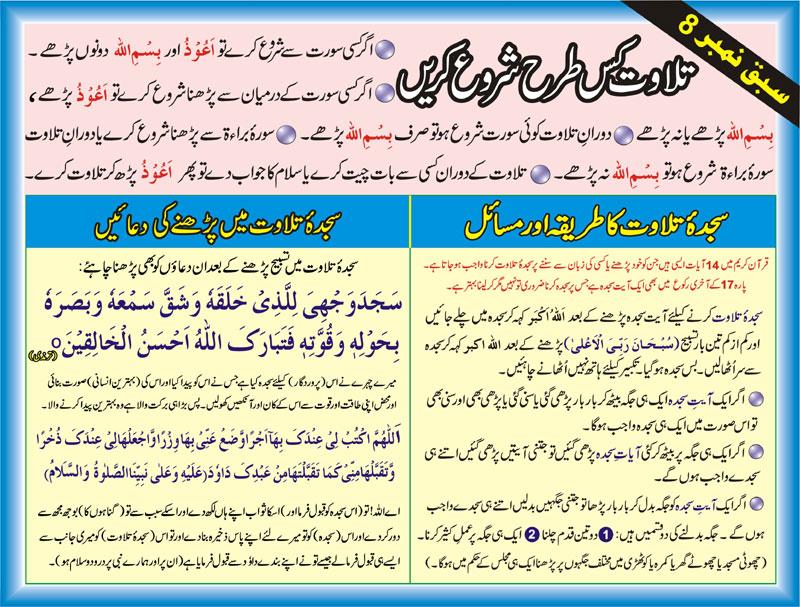 Tajweed Rules In Urdu-sajda e tilawat ki dua-sajda e tilawat karne ka tarika in Urdu