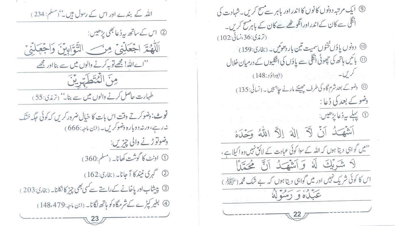 wazu tutne ki wajah wazu ke baad ki dua in urdu