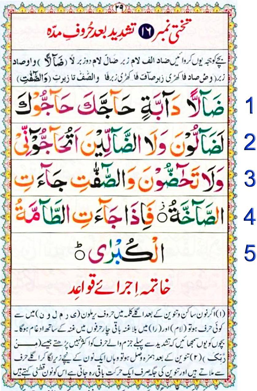 Noorani Qaida Lesson No 28