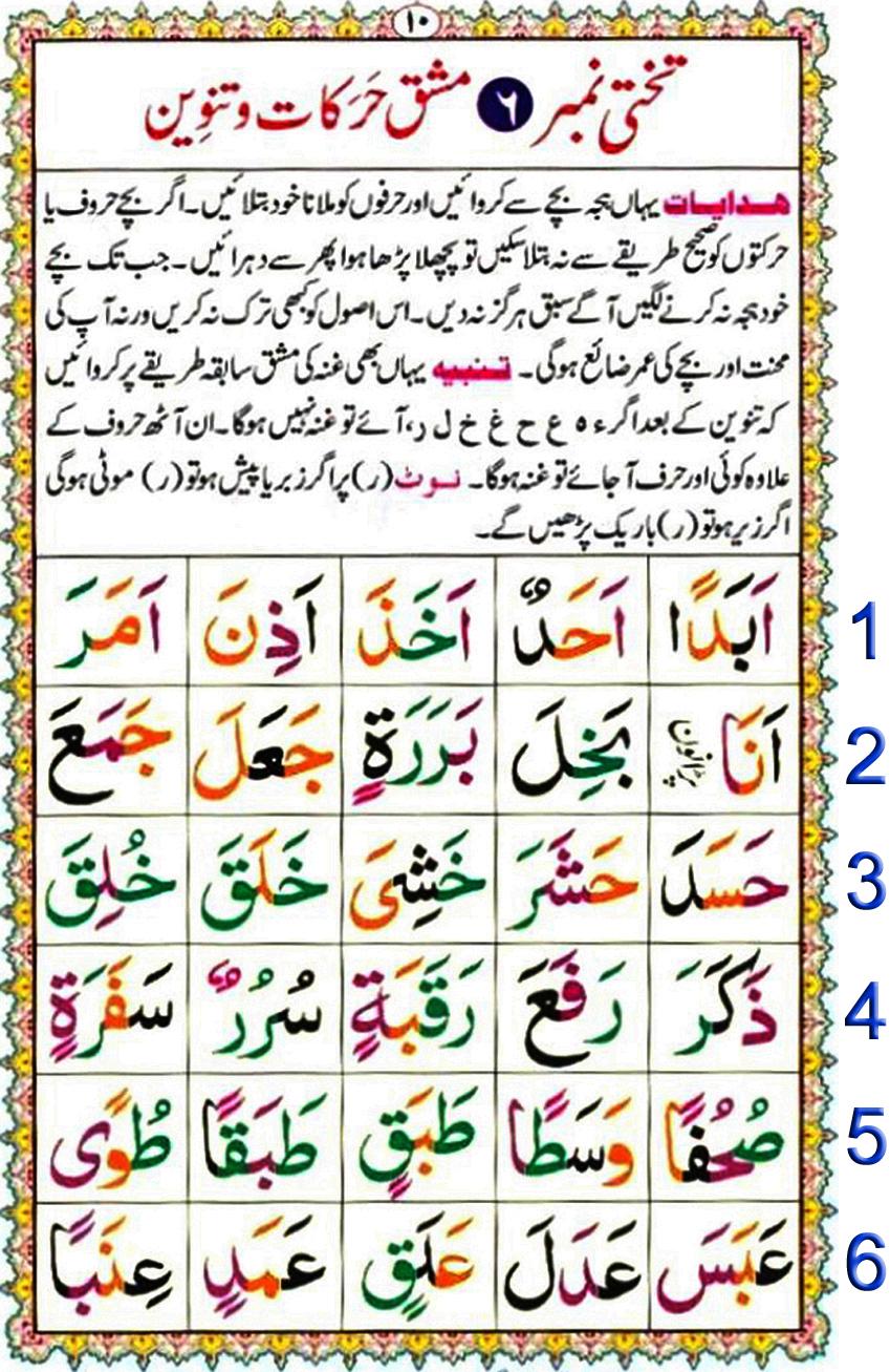 Noorani Qaida Lesson No 9