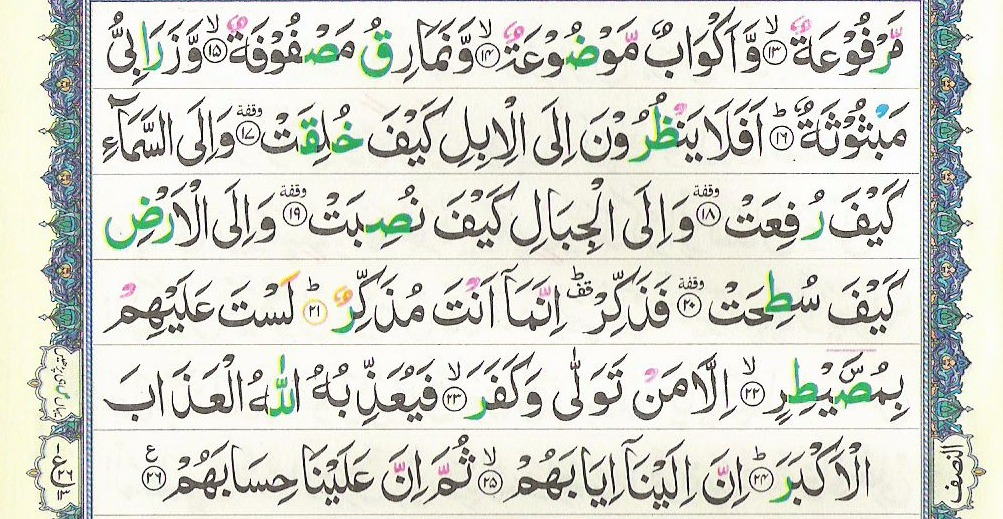 Surah Al Ghashiya 88