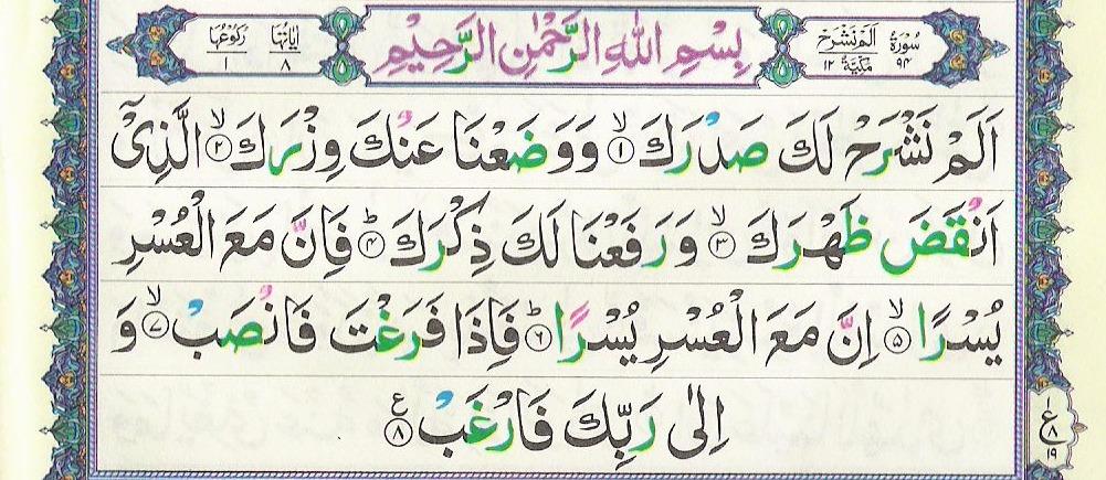 Surah Alam Nashrah 94