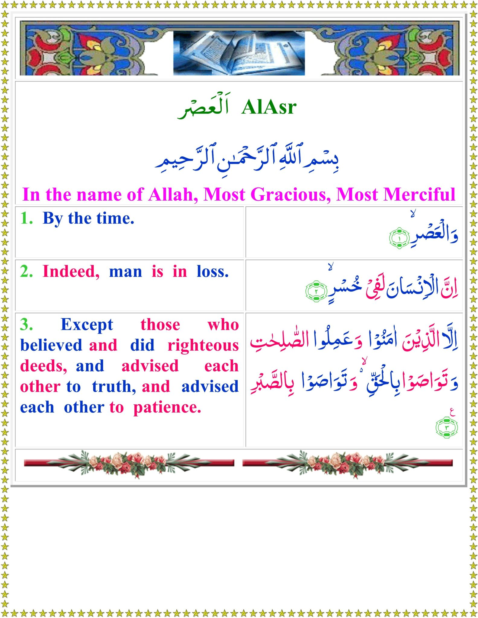 Surah Asr translation in English