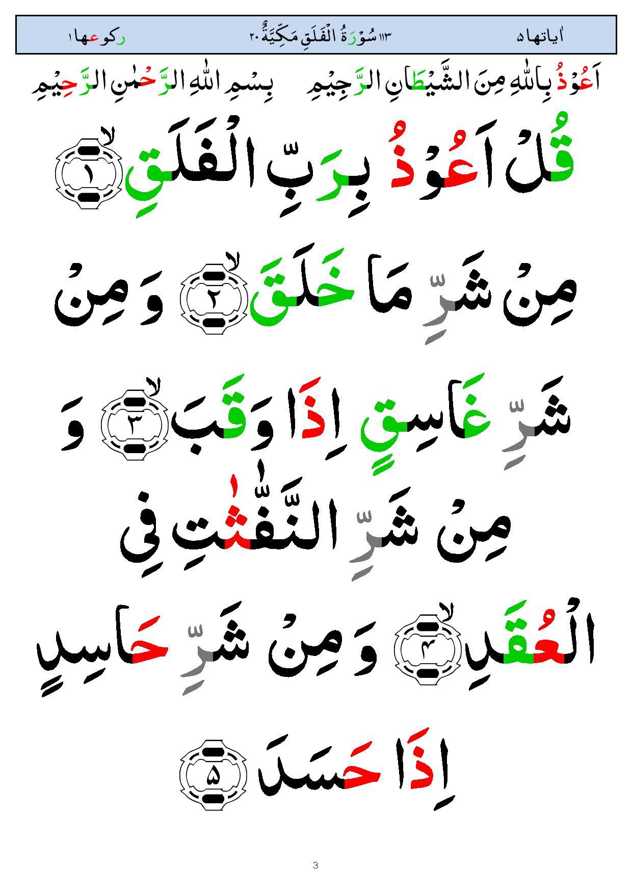 Surah AlFalaq